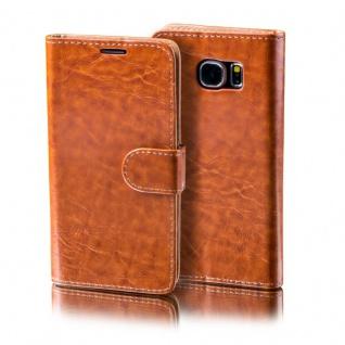Schutzhülle Braun für Samsung Galaxy S7 Plus Bookcover Tasche Hülle Case Etui