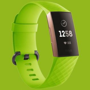 Für Fitbit Charge 3 Kunststoff / Silikon Armband für Männer / Größe L Grün Uhr