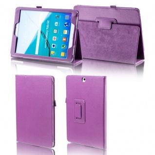 Für Samsung Galaxy Tab S4 10.5 T830 T835 Lila Kunstleder Hülle Cover Tasche Neu