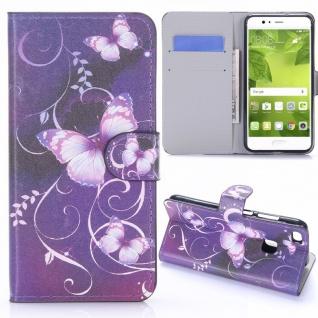 Schutzhülle Muster 23 für Huawei P10 Lite Bookcover Tasche Case Hülle Wallet Neu