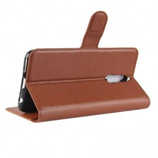 Tasche Wallet Premium Braun für Huawei Mate 10 Lite Hülle Case Cover Etui Schutz - Vorschau 4