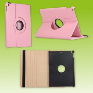 Für Apple iPad 10.2 Zoll 2019 2020 Rosa 360 Grad Etui Tablet Tasche Kunst-Leder