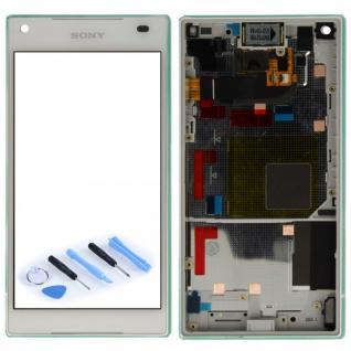 Sony Display LCD Komplett mit Rahmen für Xperia Z5 Compact E5803 E5823 Weiß Neu
