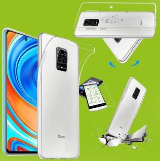 Für Xiaomi Redmi Note 9 Silikon TPU Transparent + H9 Glas Tasche Hülle Etuis Neu