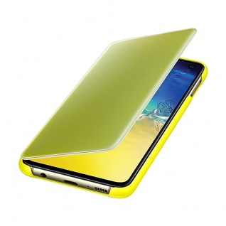 Samsung Flip Tasche Clear View EF-ZG970CYEGWW für Galaxy S10e G970F Cover Gelb - Vorschau 4