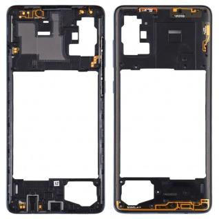 Mittelrahmen für Samsung Galaxy A71 A715F Schwarz Middle Frame Rahmen Ersatzteil