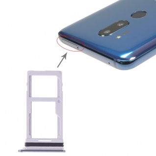 Sim Karten Halter für LG G7 ThinQ Card Tray Silber Ersatzteil Reparatur