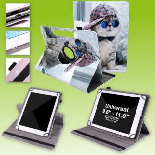 Für Huawei MatePad T10 / T10s 360 Grad Motiv 9 Tablet Tasche Kunst Leder Etuis