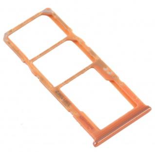 Dual Sim Karten Halter für Samsung Galaxy A70 Orange Card Tray Micro SD Ersatz - Vorschau 3