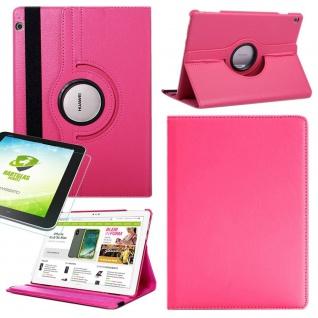 Für Apple iPad Pro 12.9 3. Gen Pink 360 Grad Hülle Tasche Kunstleder + Hart Glas