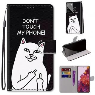 Für Samsung Galaxy S21 Ultra 5G Kunst-Leder Handy Tasche Motiv 3 Hülle Etuis Case