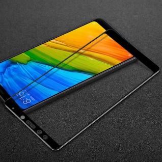 3D Premium 0, 3 mm H9 Hart Glas Schwarz Folie Glas für Xiaomi Redmi 5 Plus Schutz