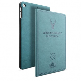 Design Tasche Backcase Smartcover Blau für Apple iPad Pro 10.5 2017 Hülle Case