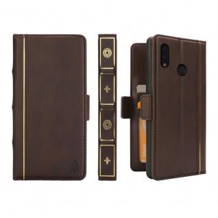 Für Huawei P20 Lite Kunstleder Tasche Bookcover Schutz Hülle Case Etuis Kappe