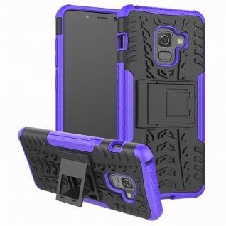 Hybrid Case 2teilig Outdoor Lila Tasche Hülle für Samsung Galaxy A8 A530 2018 - Vorschau