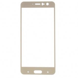 Premium 0, 3 mm gebogenes H9 Hartglas Gold Folie für HTC U11 Schutz Hart Neu