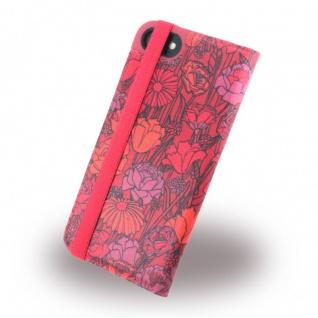Adidas Bohemian Tasche Book Cover Apple iPhone 7 Hülle Handytasche Etui Rot Neu - Vorschau 4