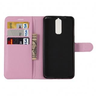 Tasche Wallet Premium Rosa für ZTE Blade A610 Plus Hülle Case Cover Etui Schutz - Vorschau 5