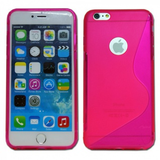 Silikon Case S-Line Bull Eye Pink für Apple iPhone 6 Plus 5.5 Hülle Cover Neu