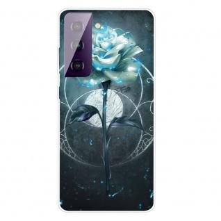 Für Samsung Galaxy S21 Silikon TPU Magic Rose Handy Hülle