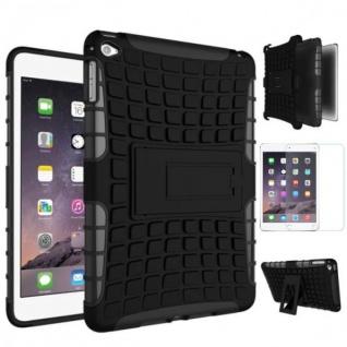 Hybrid Outdoor Schutzhülle Schwarz für iPad Mini 4 Tasche + 0.3 H9 Hartglas