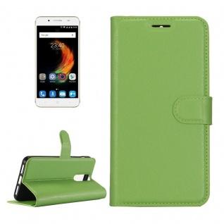 Tasche Wallet Premium Grün für ZTE Blade A610 Plus Hülle Case Cover Etui Schutz