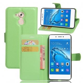 Tasche Wallet Premium Grün für Huawei Honor 6C Hülle Case Cover Etui Schutz Neu