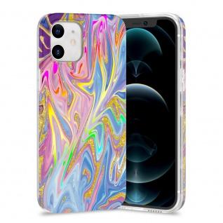 Für Apple iPhone 12 Mini TPU Watercolor Schutz Tasche Hülle Cover Etui Motiv 1