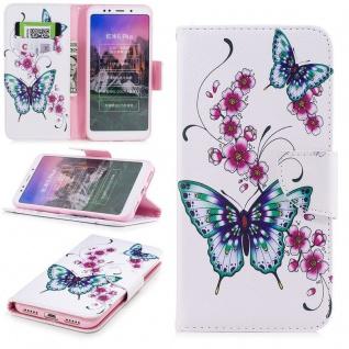Für Huawei P Smart Plus Kunstleder Tasche Book Motiv 31 Schutz Hülle Case Cover