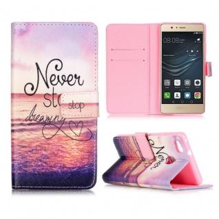 Schutzhülle Muster 71 für Huawei P9 Lite Bookcover Tasche Case Hülle Wallet Etui
