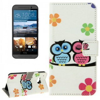 Schutzhülle Muster 72 für HTC One 3 M9 2015 Tasche Cover Case Hülle Etui Schutz - Vorschau 1