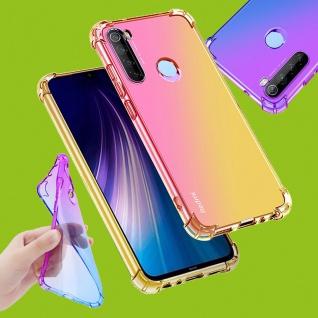 Für Xiaomi Mi 9 Lite Silikon TPU Pink / Gelb Handy Tasche Hülle Etuis Cover Case