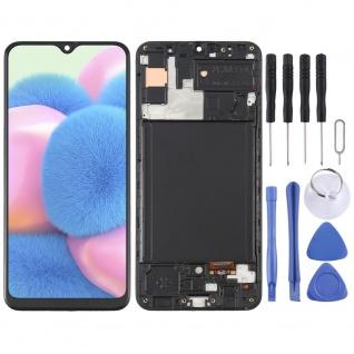 Für Samsung Galaxy A30s A307 Display OLED LCD + Rahmen Touch Ersatzteil Schwarz