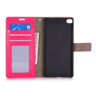 Design Case für Huawei Ascend P8 Zubehör Schutz Tasche Neu aufstellen pink