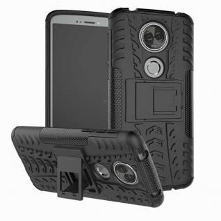 Für Motorola Moto E5 Plus Hybrid Case 2teilig Outdoor Schwarz Etui Tasche Hülle