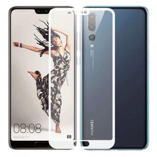 2, 5D Premium 0, 3 mm H9 Hart Glas Weiß Folie für Huawei P20 Lite Schutz Hülle Neu