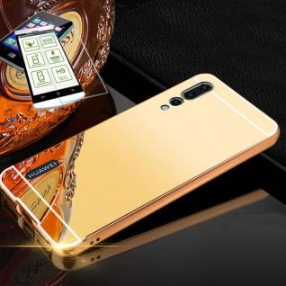 Für Huawei P20 Pro Alu Bumper 2 teilig Gold + 0, 3 H9 Glas Tasche Hülle Case Etui
