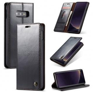 Schutzhülle Handy Tasche für Samsung Galaxy S10 Lite Kartenfächer Wallet Schwarz