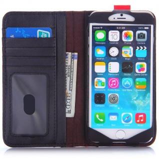Tasche Book Retro Style für Apple iPhone 6 Plus 5.5 Hülle Case Etui Schutz Cover - Vorschau 2