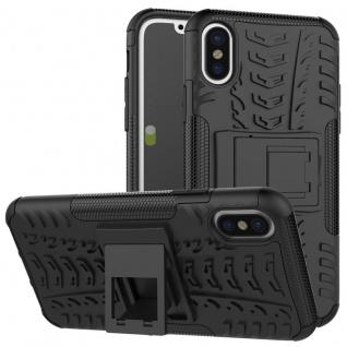 Hybrid 2teilig Outdoor Schwarz für Apple iPhone X / XS 5.8 Zoll Tasche Hülle