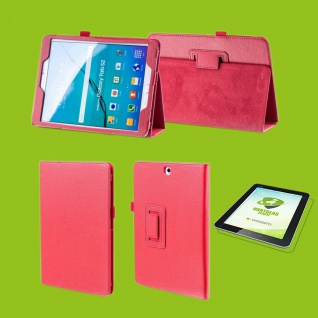 Für Apple iPad Pro 11.0 Zoll Rot Etuis Cover Hülle Tasche Kunstleder + Hart Glas