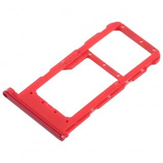 Für Huawei P Smart Plus Karten Halter Sim Tray Schlitten Holder Rot Ersatzteil - Vorschau 3