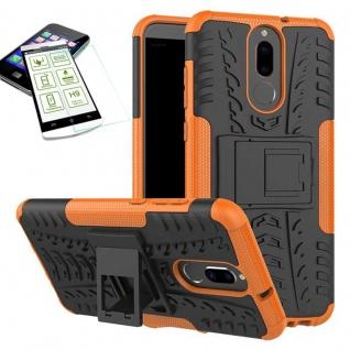 Hybrid Case Tasche Outdoor 2teilig Orange für Huawei Mate 10 Lite Hülle + Glas