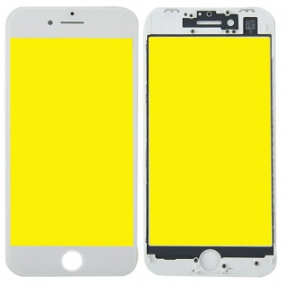 Display Glas für Apple iPhone 8 4.7 LCD + Displayglas + Rahmen + OCA Kleber Weiß
