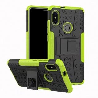 Für Xiaomi Redmi Note 5 Hybrid Case 2teilig Outdoor Grün Tasche Hülle Cover Case