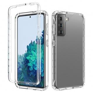 Für Samsung Galaxy S21 Hybrid Case Outdoor Transparent Handy Tasche Etuis Hülle