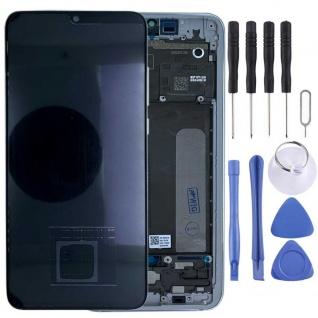 Für Xiaomi Mi 9 Lite Display Full OLED LCD mit Rahmen Reparatur Silber Ersatz