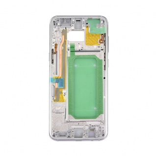 Mittelrahmen Rahmen Kamera Glas Gehäuse f. Samsung Galaxy S8 Plus G955F Silber