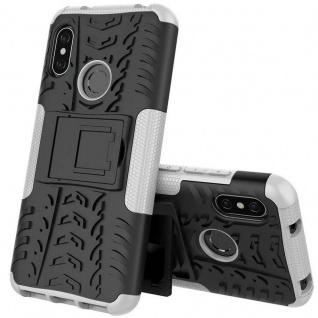 Für Xiaomi MI A2 / Mi 6X Hybrid Case 2teilig Outdoor Weiß Tasche Hülle Cover Neu
