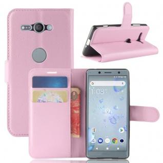 Tasche Wallet Premium Rosa für Sony Xperia XZ2 Compact Hülle Case Cover Schutz
